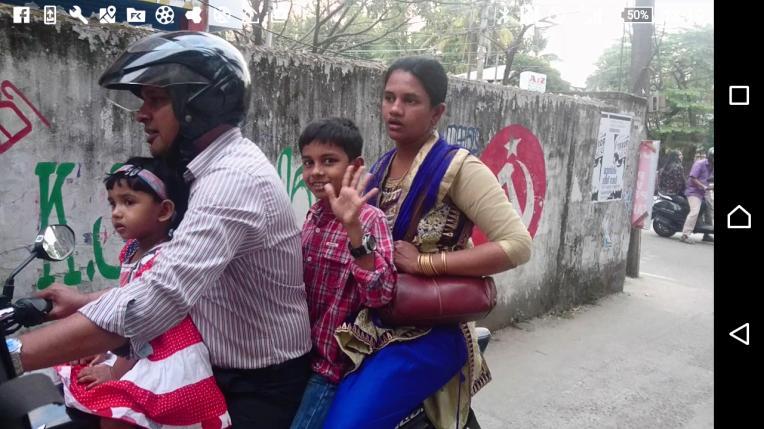 family-on-bike